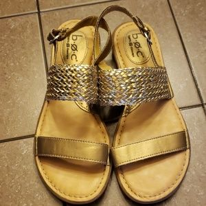 Born silver and gold sandals size 8